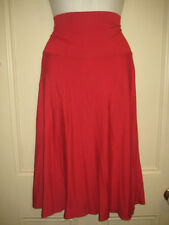Viscose Stretch Knit Hand-wash Only Solid Skirts for Women