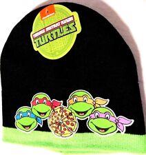 Nickelodeon TMNT Teenage Mutant Ninja Turtles Black Knit Beanie Cap Hat New