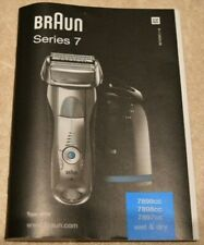 Braun Series 7 Cordless Wet and Dry Foil Washable Shaver - INSTRUCTIONAL MANUAL