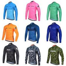Mens manica lunga ciclismo jersey giacca traspirante top mountain bike
