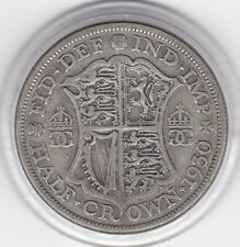 Scarce   1930   King  George  V   Half  Crown  (2/6d) -  Silver  Coin
