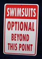 SWIMSUITS OPTIONAL - *US MADE* Embossed Metal Tin Sign -Yard Pool Man Cave Bar