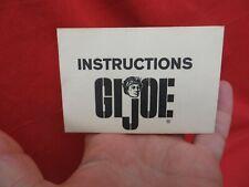 1964 VINTAGE GI JOE JOEZETA :  1967 HEAVY WEAPONS ORIGINAL INSTRUCTION SHEET