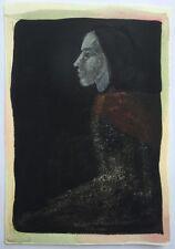 Petite Gouache Portrait Personnage Profil PIERRE-HENRI BOUSSARD Sard #7