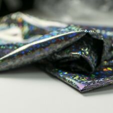 Tessuto lycra stampata nero/argento cm. 50x150