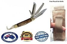 5 in 1 Horseman's Multi Knife with Hoof Pick Comb Farrier sharp tool FREE pouch
