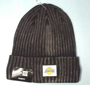 Los Angeles Lakers women's New Era Rustic Chic Cuffed Knit Beanie