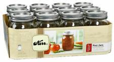 KERR Ball Regular Mouth Pint Mason Jars Lids/Bands 16oz canning 12 Pack Ship Now