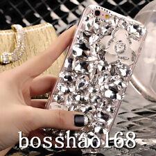 Bling Clear Crystal Diamonds Soft TPU back Ultra-thin Phone Case Cover Skin BO-4