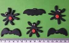 12 x cupcake cake toppers Halloween bats spiders decorations edible