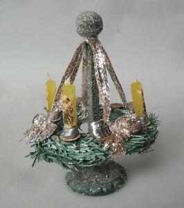 12cm Weihnachtskranz auf Holzständer Tischdekoration ab 1930 Adventskranz Kerzen