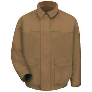 Bulwark Men's Flame Resistant Duck Lined Bomber Jacket NWT Size Medium Was $185