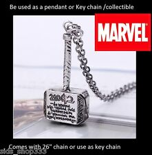 Marvel Comics THOR Hammer Mjolnir The Avengers Metal Pendant Key chain cosplay