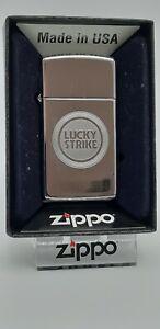 Original Zippo - Lucky Strike Logo - Slim Line - 2013 -  Neu 1270009