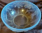 Large Vintage Czech Barolac 1930s Trees Inwald Jenkins Opalescent Glass Bowl