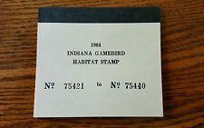 Vintage Indiana Duck Stamps Indiana Game bird Habitat Stamp 1984