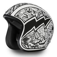 New Daytona Helmets Cruiser - W/ GRAFFITI Vintage Bike DOT Motorcycle Helmet