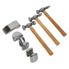 Sealey 7 Piece Bodyshop Panel Beating Set - 4 Dollies & 3 Hammers - CB507