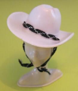 Superstar Era 1981 Winking Western Barbie DOLL Clothes Access: White Cowboy Hat