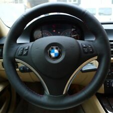 New Anti Slip Black Leather Steering Wheel Stitch on Wrap Cover For BMW 325i E90