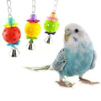 Bird Budgie Parakeet Cockatiel Cage Interactive Mirror T Bell Activity Play F5B6