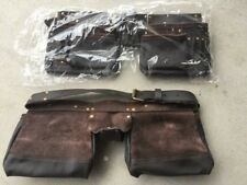 2 x TOOL belts real leather workmans TOOL holder full grain leather AU stock
