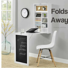 Foldable Wall Mounted Desk PC Workstation Storage Table Space Saver Blackboard