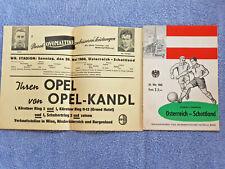 More details for 1960 - austria v scotland programme + insert - friendly - 59/60