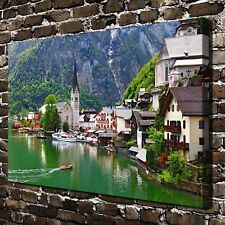 """The beautiful town Paintings HD Canvas Print 24""""x36"""" Home Decor Wall Art Picture"""