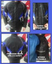 Giacca Giubbino Moto Scooter tessuto cordura tipo SPYKE SPOOL nero blue tg.S
