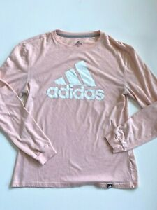 Adidas Women's Small The Go To Logo Graphic T-Shirt Pink