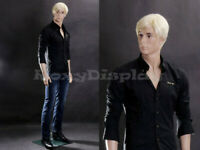 Male Fiberglass Realistic Mannequin Dress From Display standing pose #MZ-WEN6