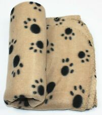 Indian Pet Dog Cat Fabric Blanket Mat Bed with Paw Prints (Color May Vary)