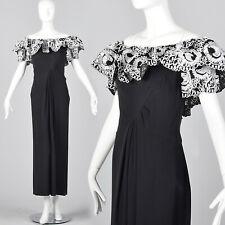 003ee0302a6b5 Bob Mackie Off Shoulder Long Pencil Evening Dress Black Formal Gown VTG  1980s