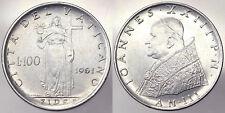 100 LIRE 1961 ANNO III GIOVANNI XXIII CITTA' DEL VATICANO Fdc Unc #2698
