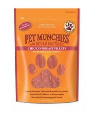Pet Munchies Chicken Breast Fillets ~ 4 x Packs (100g/Pack) ~ 100% Natural