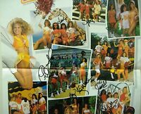 NFL Cheerleader sexy poster 1994 autographs signed vintage Tampa Bay Buccaneers