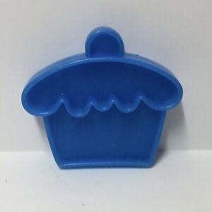 Vintage 1972 Mattel Tuff Stuff Fake Play Food Blue Plastic Cupcake Kitchen Toy