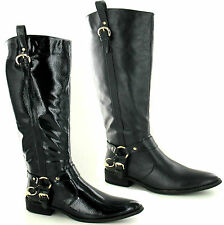Spot on Women's Synthetic Block Knee High Boots
