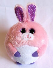 Beanie Ballz Bunny Rabbit Carnation Ty Always Lands On Feet Easter Pink 5""