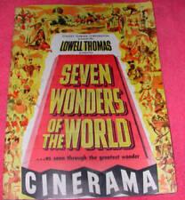 SEVEN WONDERS OF THE WORLD 1956 VINTAGE PROGRAM