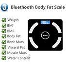 Wireless Bluetooth Body Fat Scale LCD Digital Health Analyzer Fitness Bathroom