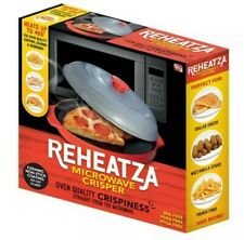 Reheatza Microwave Crisper, Ceramic Non-Stick Coating As Seen on TV New In Box