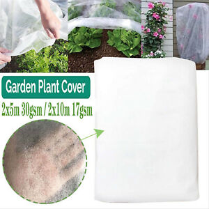 2Mx10M GARDEN FLEECE PLANT PROTECTION WHITE HORTICULTURAL COVER FROST HEAVY DUTY