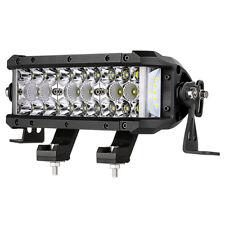 "Tri-row 8"" inch 102W LED Light Bar Spot Flood Offroad 4x4 Work Driving Bars 12V"
