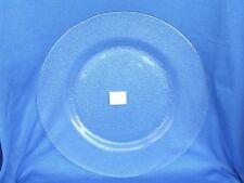 Großer 32 cm Platzteller Teller Glas Klar