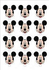 Novelty Mickey Mouse Head Stand Up Fairy Cake Cupcake Toppers Edible Disney Cute