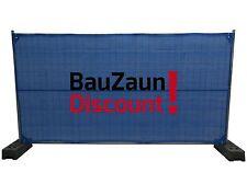 10x Bauzaunnetz Bauzaun Sichtschutznetz Bauzaunplane Zaunblende Mobilzaun blau