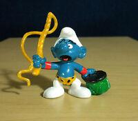 Smurfs 20115 Lion Tamer Smurf Circus Figure Vintage Toy PVC Figurine Peyo 1980s