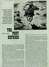 History of The Pony Express By W F Bailey + Ficklin,Senator Gwin,Majors,Russell